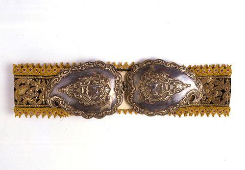 Belt with buckle  Kymi, Evia (Euboea)  18th century  © Peloponnesian Folklore Foundation, Nafplion, Greece