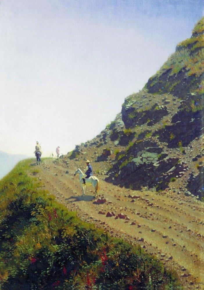 Василий Васильевич Верещагин. Кочевая дорога в горах Алатау. 1869-1870.