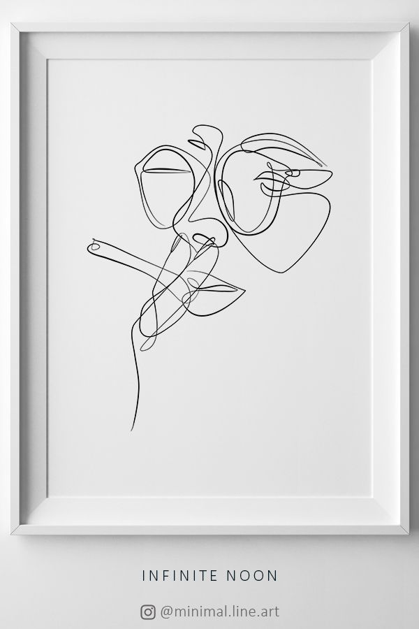 Woman Smoking Line Art, Female Face Sketch, Minimal Abstract Continuous Lines, Simple Drawing Wall Art, Feminine Print, Fashion Artwork – Isabelle