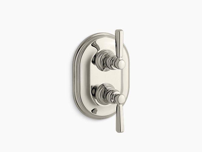ada compliant bathroom door handle. the k-t10594-4 valve trim adds traditional styling to bathrooms. its stacked ada compliant bathroom door handle