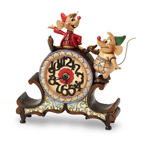 Gus and Jaq ''A Stitch in Time'' Clock Figurine by Jim Shore