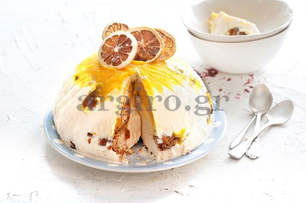 Parfait with lime and lemon and candied stuffed croissants! - Παρφέ κασάτο με λάιμ και λεμόνι και γεμιστά καραμελωμένα κρουασάν!