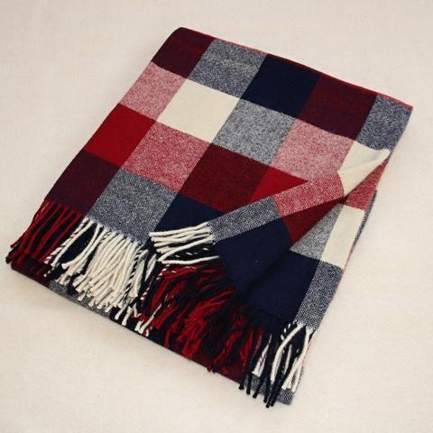 Vlněná deka 135 x 200 cm • kostka