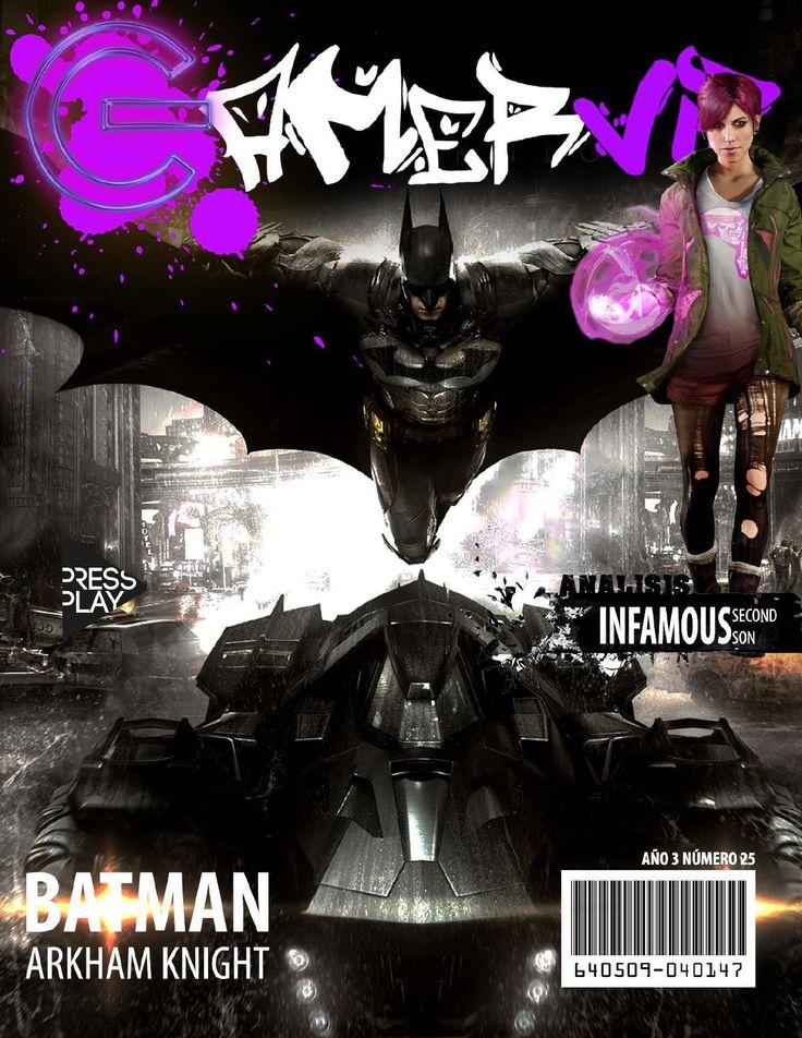 """GamerVip Abril 2014 """"Batman Arkham Knight, Brasil World Cup 2014, TitanFall, Infamous y más!""""  Recuerda descargar GamerVip para disfrutar de contenido interactivo, ojo que se viene concurso...REGALAMOS UN TITANFALL PARA  XBOX 360. Más info en WWW.GAMERVIP.CL"""