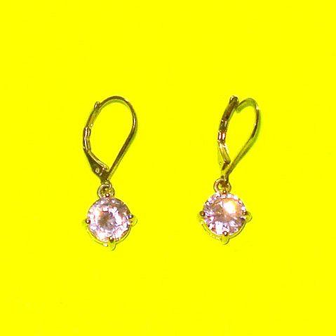 Pink Rhinestone Drop Earrings - Mookie Designs Vintage