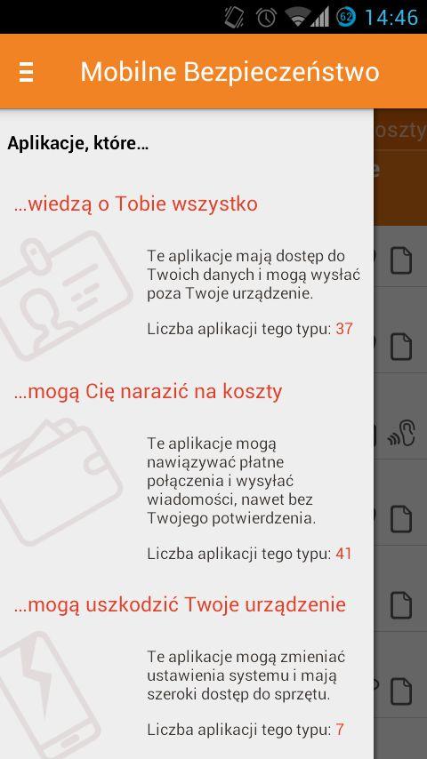Mobilne Bezpieczeństwo - zrzut ekranu