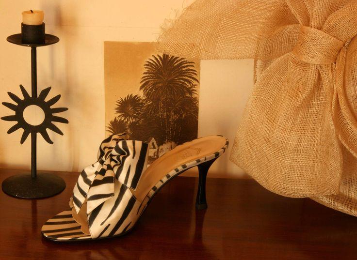 """""""Rêve d'Afrique - black zebra on écru http://store.leschaussonsdelabelle.com"""