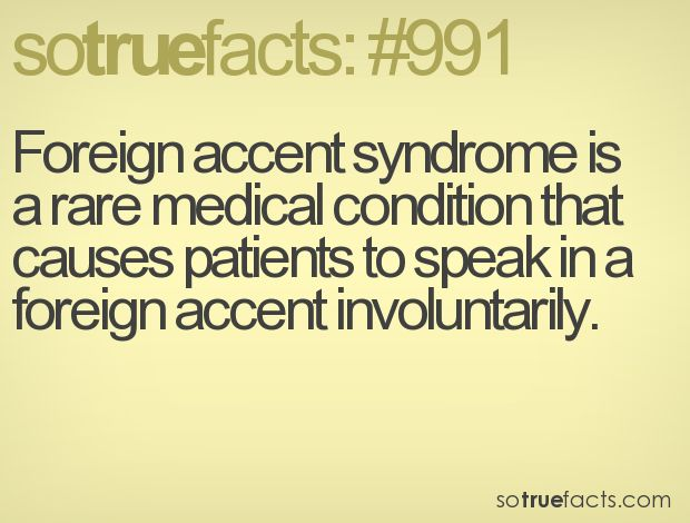 Foreign accents.....i don't know if this would be so bad