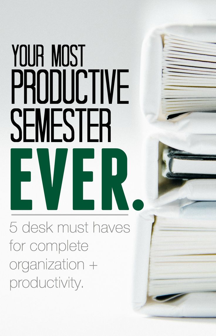 Organization tips for college students