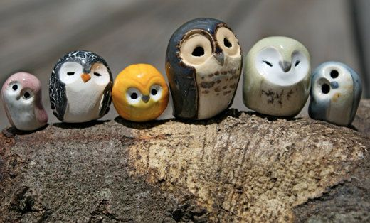 Araminta the Clay Owl, Harry Potter Inspired Owlery by calicoowls from Tampa, FL, USA