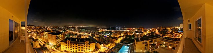 View from hotel Horizonte (AMIC) to the harbour of Palma