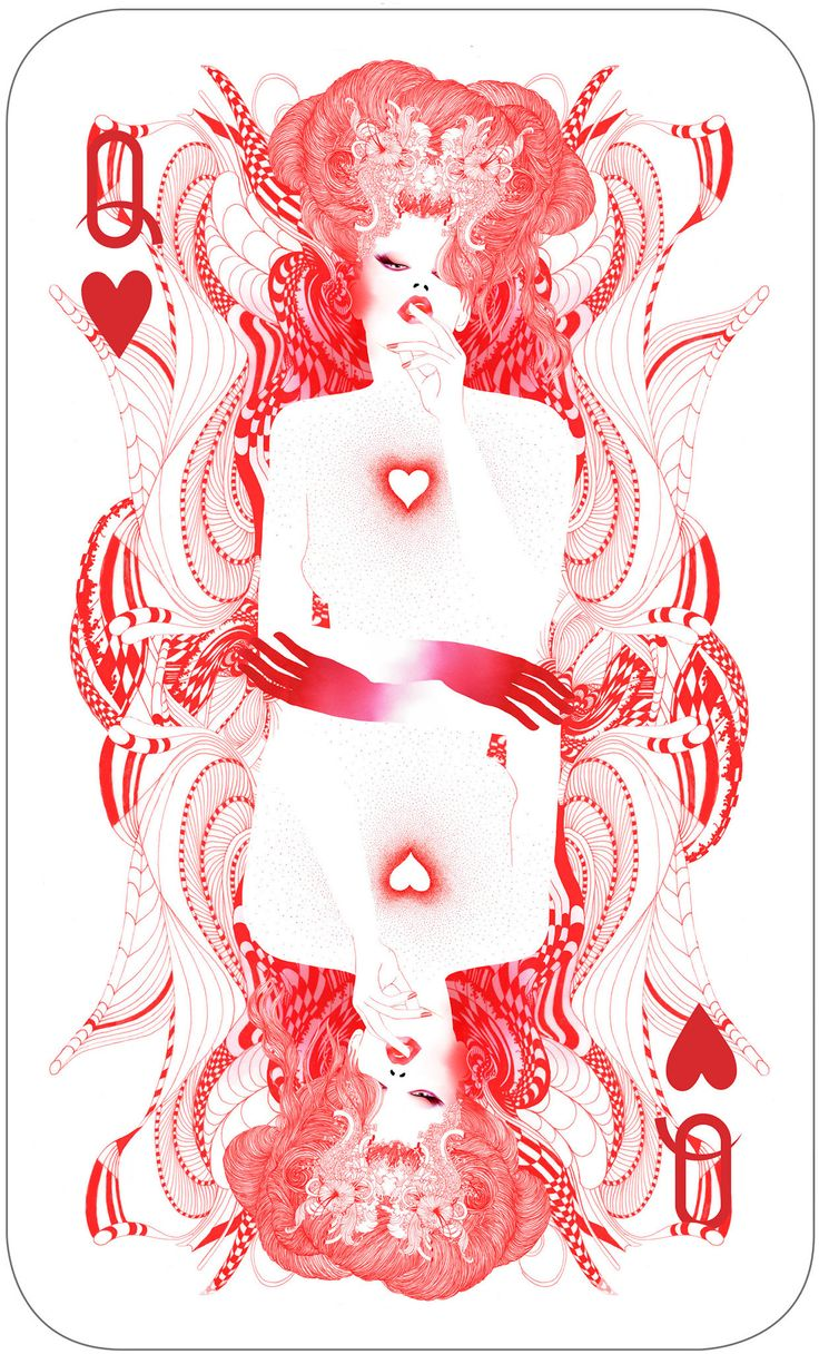 Limited edition art prints.The queen of hearts by Noumeda Carbone