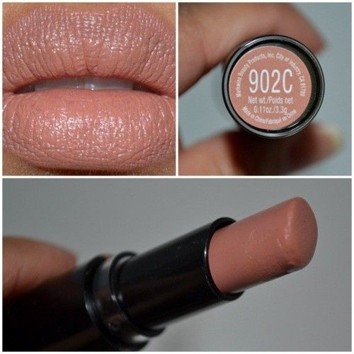 Good Neutral Color: Wet n Wild MegaLast Matte Lip Color in Bare It All - Another pinner wrote:I must admit, I was surprised at how good this lipstick worked.  The lipsticks are highly pigmented and they're only $1.99!!!!!