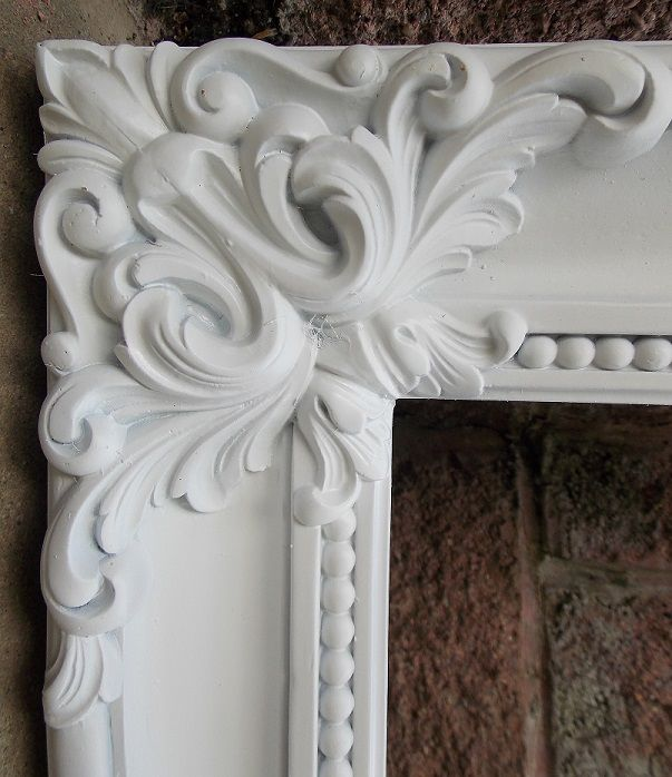 HUGE!! White Shabby Frame Chic French Rococo Ornate Gold Frame Wedding Home Deco