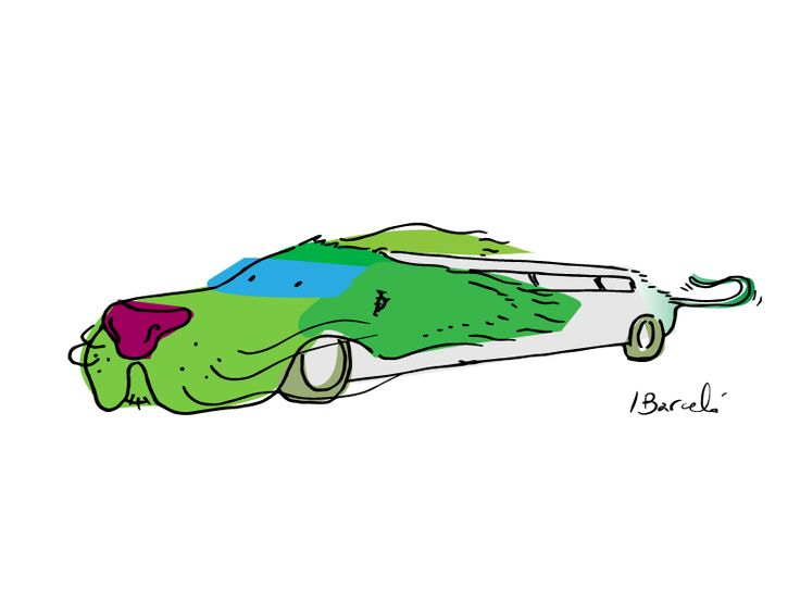 Speeding Limo-Dog - Ignacio Barcelo