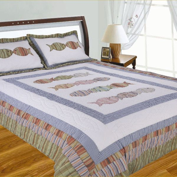 26 best Bedding images on Pinterest | Laundry, Tote bags and Towels : fish quilt bedding - Adamdwight.com