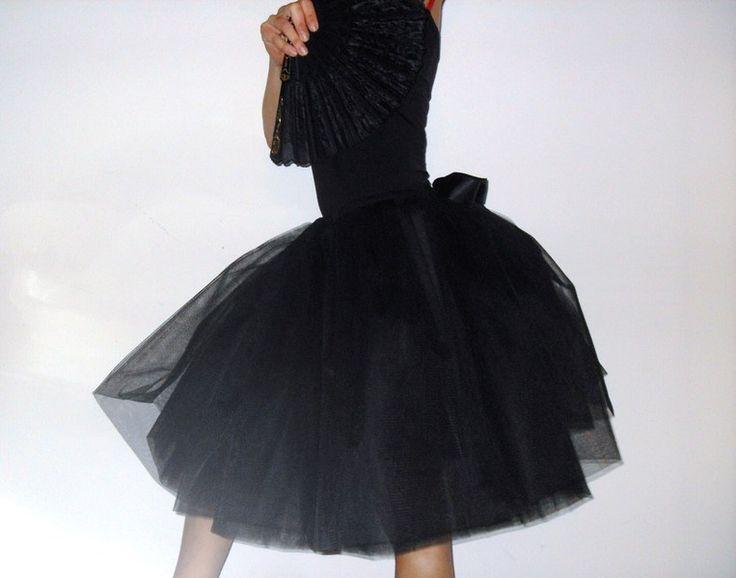 Tüllrock/Petticoat+schwarz+von+rosenrot+berlin+auf+DaWanda.com