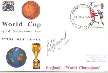 World Cup 1966 Special Commemorative Issue first day cover, originally signed by Alf Ramsay