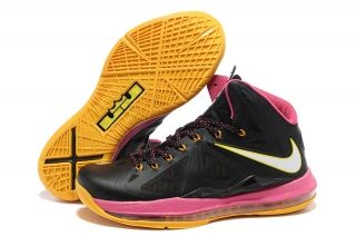 Noir Rose Jaune Style Floridians Nike Lebron X 10