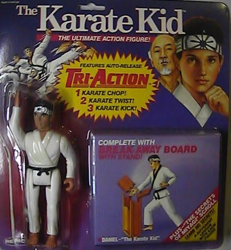 I remember my Grandma buying me these figures. Karate Kid Action Figure