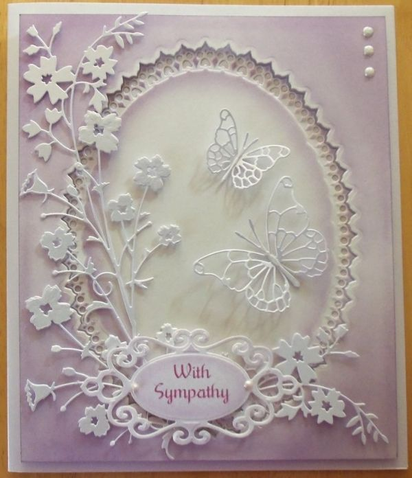 cards made using tattered lace bag dies - Google Search