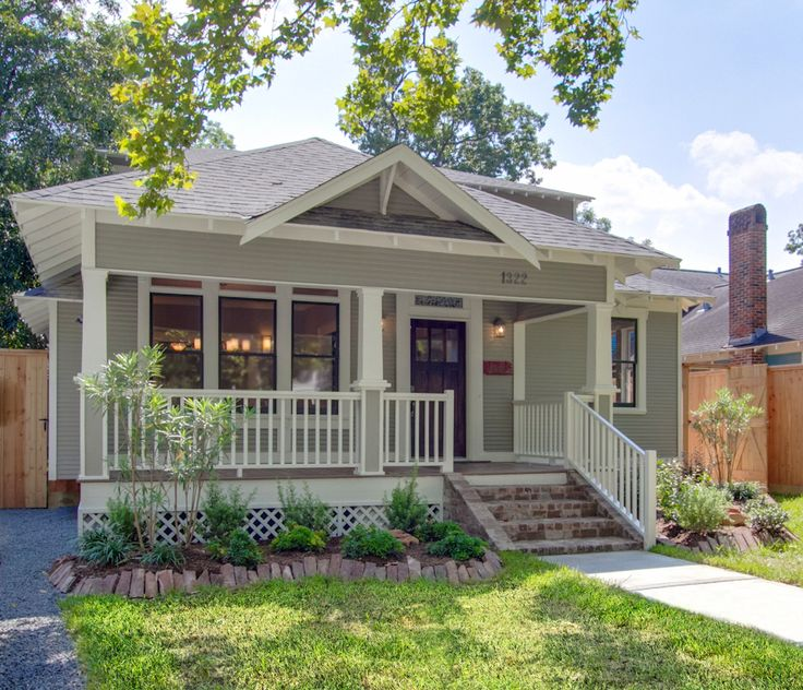 Best Curb Appeal Images On Pinterest Houston Heights Curb - Craftsman home rehabilitation in houston