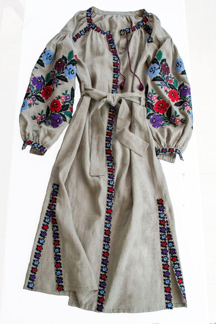 Платье вышиванка by GLAZDOV on Etsy