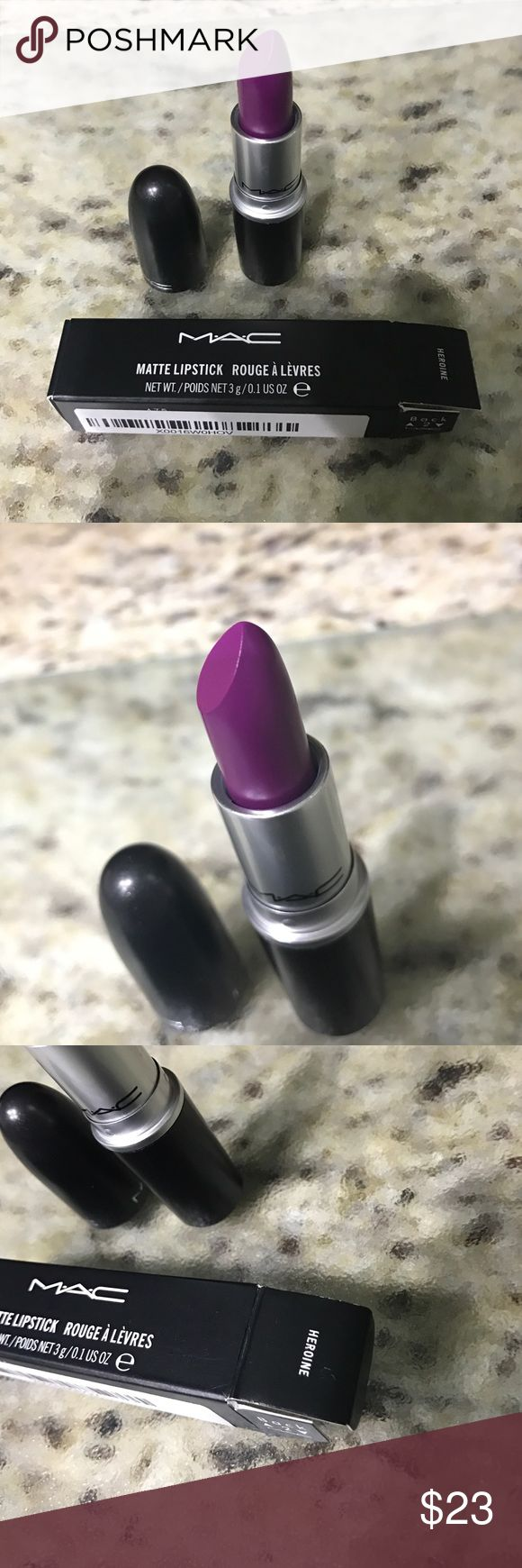 Heroin MAC lipstick New in box MAC Cosmetics Makeup Lipstick