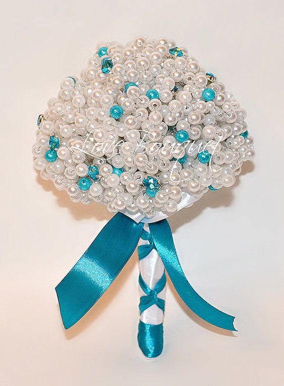 Perline perle nozze Bouquet Bouquet da sposa damigella d