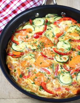 Zucchini and Sweet Potato Frittata   This is a paleo-friendly recipe that serves as both comfort food and a healthy option.