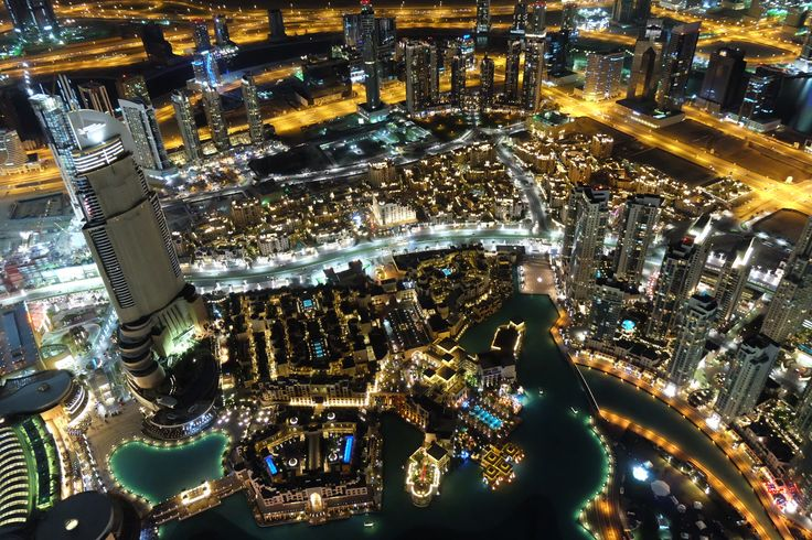View from the tallest building in the world, At The Top, Burj Khalifa #Dubai