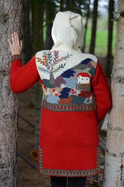 Верхняя одежда ручной работы. Ярмарка Мастеров - ручная работа Пальто вязаное 14WJ14. Handmade.