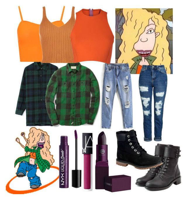 """Debbie Thornberry"" by amywillson on Polyvore featuring Nickelodeon, WithChic, Topshop, WearAll, Sydney-Davies, Philosophy di Lorenzo Serafini, Timberland, NARS Cosmetics, Lipstick Queen and NYX"