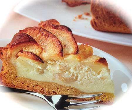 Crostata di mele con crema mascarpone.
