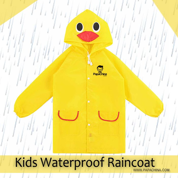 Once a Kids Waterproof Raincoat has been received, it continues to promote your company. It is designed for raining wear and functions like children rain coat suits, clothing for raining, water proof clothing, walk external activity, long length upto knee, front button closure type, head cap covers neck not only make it an excellent item for your initial promotion, it will also constantly remind clients of your brand.