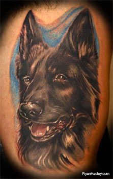 German Shepherd Dog Tattoo