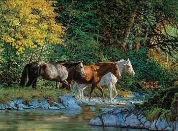Bear Creek Crossing-Horses by Chris Cummings