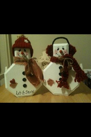 Paver Snowmen