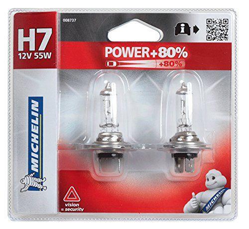 Michelin 008737 Power +80% 2 Ampoules H7 12 V 55W: 2 ampoules H7 12V POWER+80%. Px26d – 55W La technologie Michelin Power+80% offre 80% de…