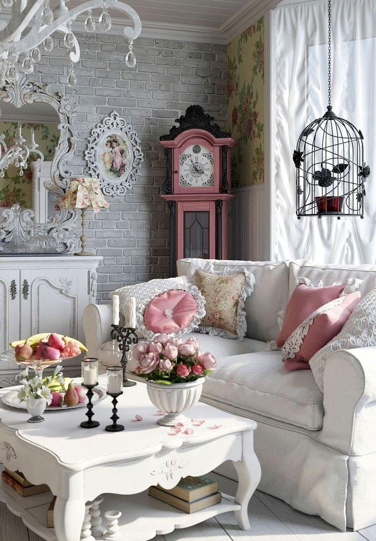 50 Romantic Shabby Chic Living Room Decor Ideas – Domakeover.com