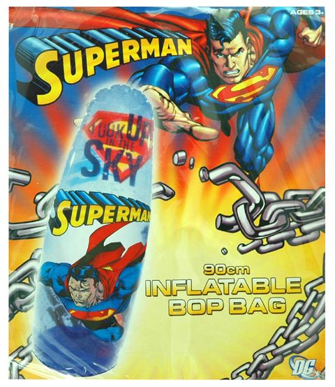 Superman Inflatable Bop Bag and more Superman toys at Funstra