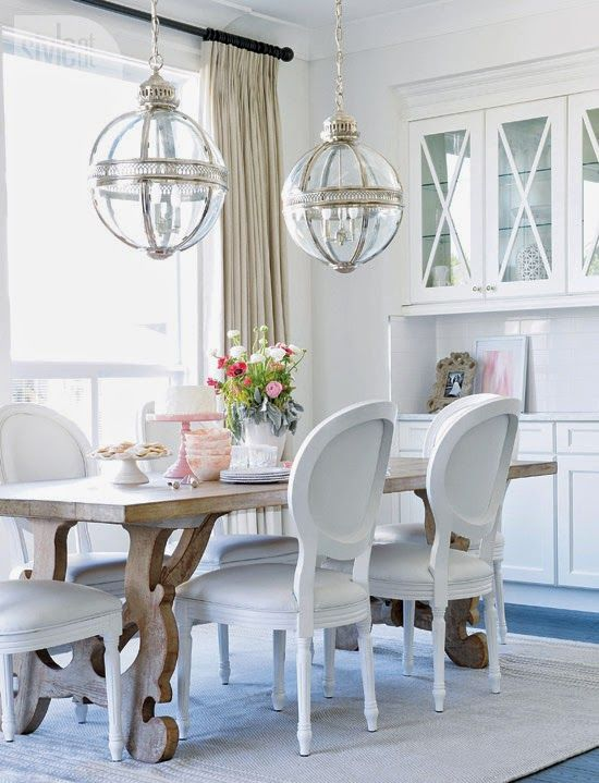 Light And Fresh Pendant Lights Have Moved Beyond The Kitchen Island Grouping In Pairs Like This Dining Room Is A Great Way To Use These Versatile Fun
