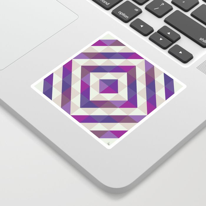 Patchwork Purples Sticker by Fimbis  Ultra violet, purple, interior design, home decor, fashionista, symmetry, stickers,