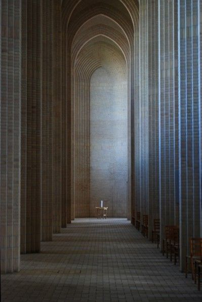 Grundtvig's Church (Danish: Grundtvigs Kirke) is located in the Bispebjerg district of Copenhagen, Denmark by Peder Vilhelm Jensen-Klint in 1913-26