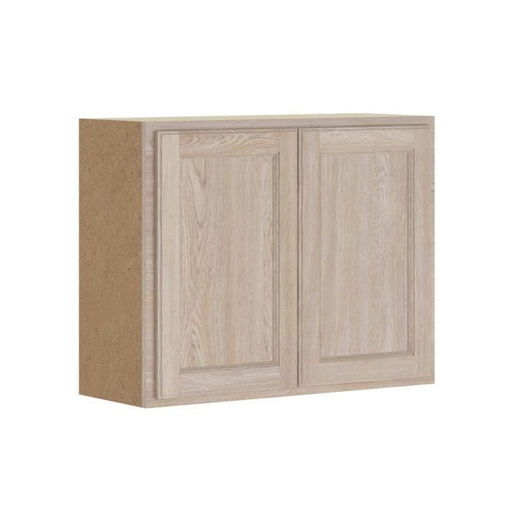 Hampton Bay Stratford Assembled 30x24x12 In Wall Bridge Cabinet In Unfinished Oak Wood Door Frame Unfinished Kitchen Cabinets Solid Wood Doors