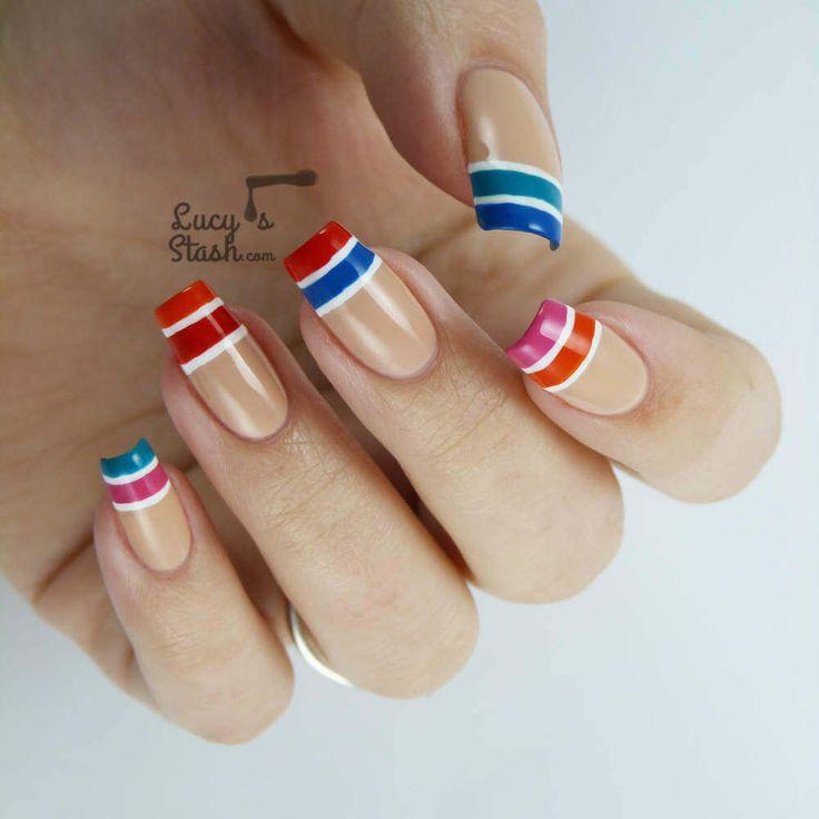 Uñas Nauticas, mas de 40 ejemplos – Nautical Nails | Decoración de Uñas - Nail Art - Uñas decoradas - Part 4
