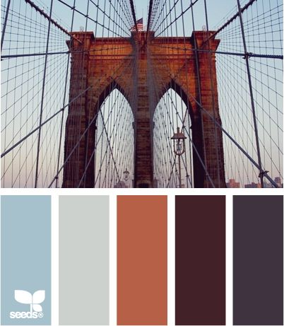 bridged tones: Bedroom Color Schemes, Bedrooms Colors Schemes, Color Palettes, Design Seeds, Colorpalett, Bedroom Colors, Brooklyn Bridges, Colors Palettes, Bridges Tones