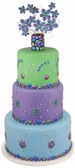 723 best images about designer children 39 s cakes on - Jewel cake decorations ...
