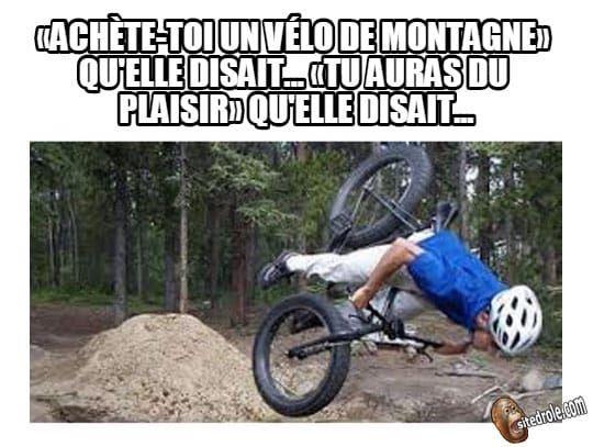 Vélo de montagne... image drole humour