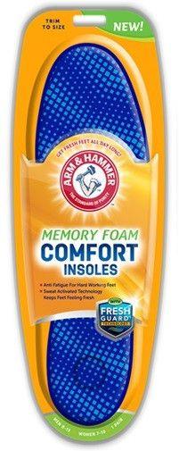 arm & hammer? memory foam insoles comfort 1 pr Case of 36